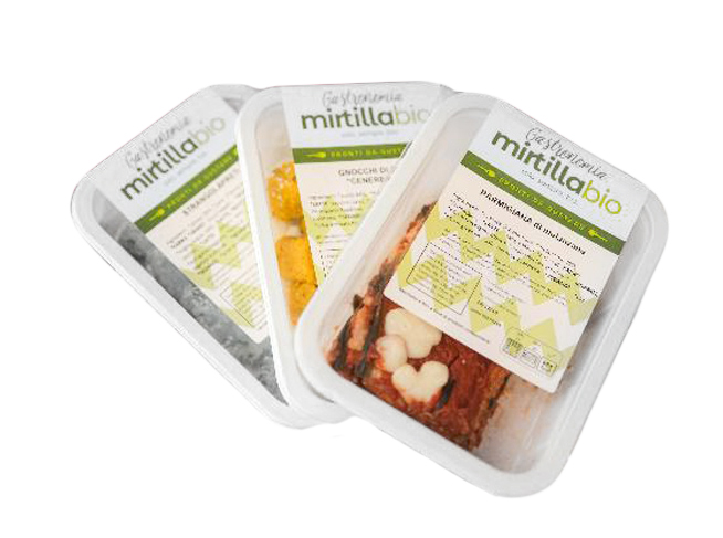 packaging sostenibile per lasagne mirtilla bio