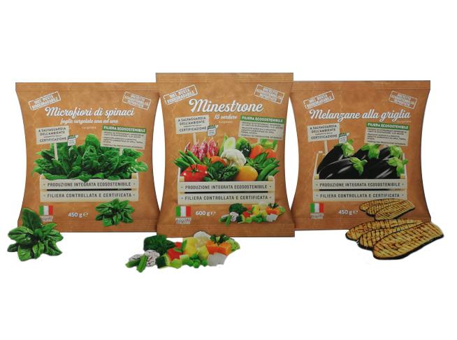 imballaggi sostenibili per alimenti surgelati